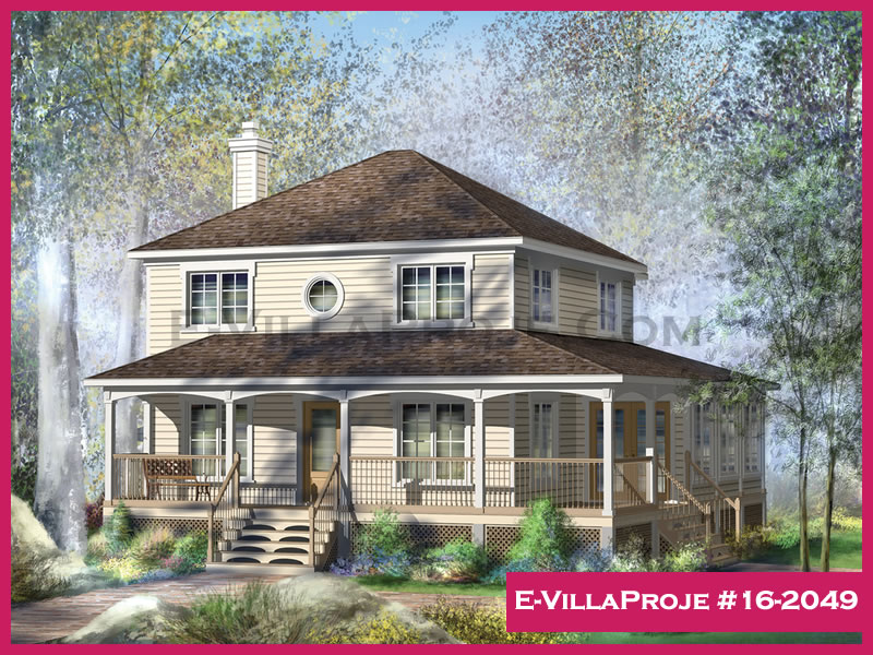 Ev Villa Proje #16 – 2049, 2 katlı, 3 yatak odalı, 165 m2