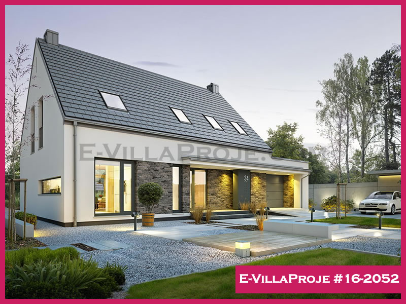 Ev Villa Proje #16 – 2052, 2 katlı, 3 yatak odalı, 219 m2