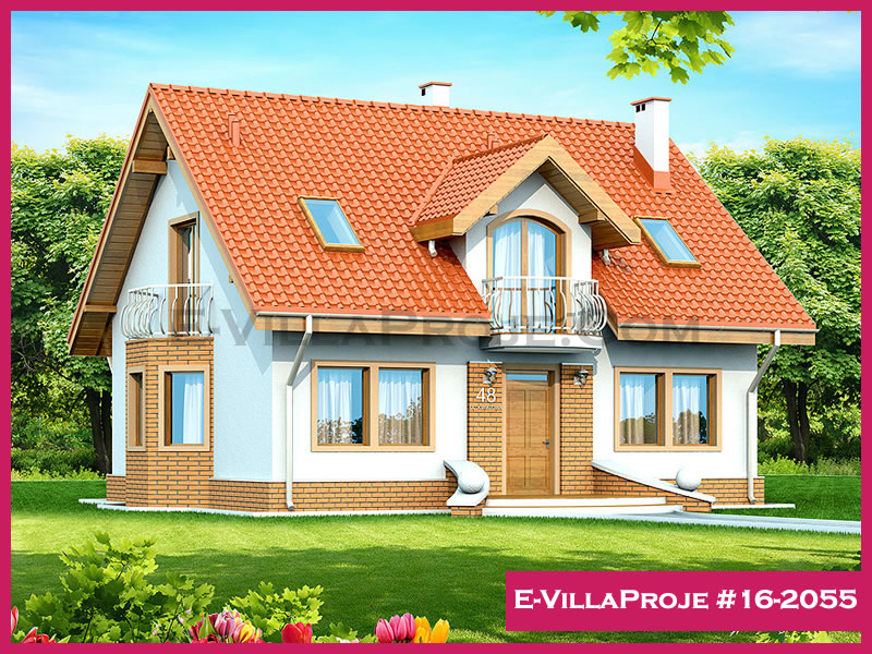 Ev Villa Proje #16 – 2055, 2 katlı, 3 yatak odalı, 208 m2