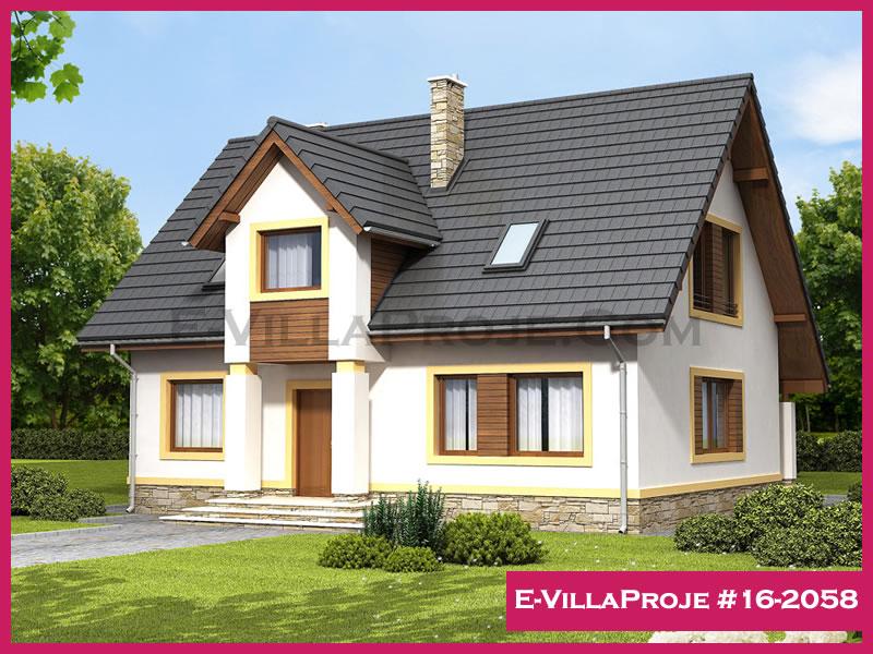 Ev Villa Proje #16 – 2058, 2 katlı, 4 yatak odalı, 196 m2