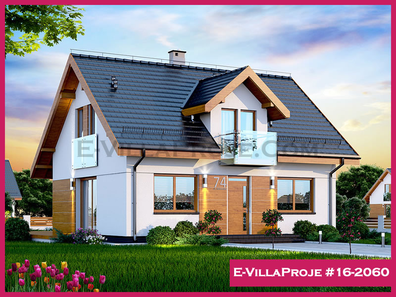 Ev Villa Proje #16 – 2060, 2 katlı, 4 yatak odalı, 169 m2