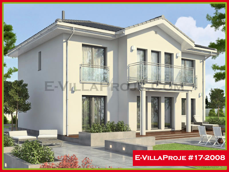 Ev Villa Proje #17 – 2008, 2 katlı, 3 yatak odalı, 198 m2
