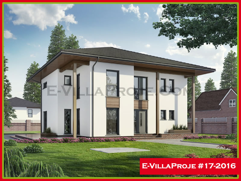 Ev Villa Proje #17 – 2016, 2 katlı, 4 yatak odalı, 218 m2