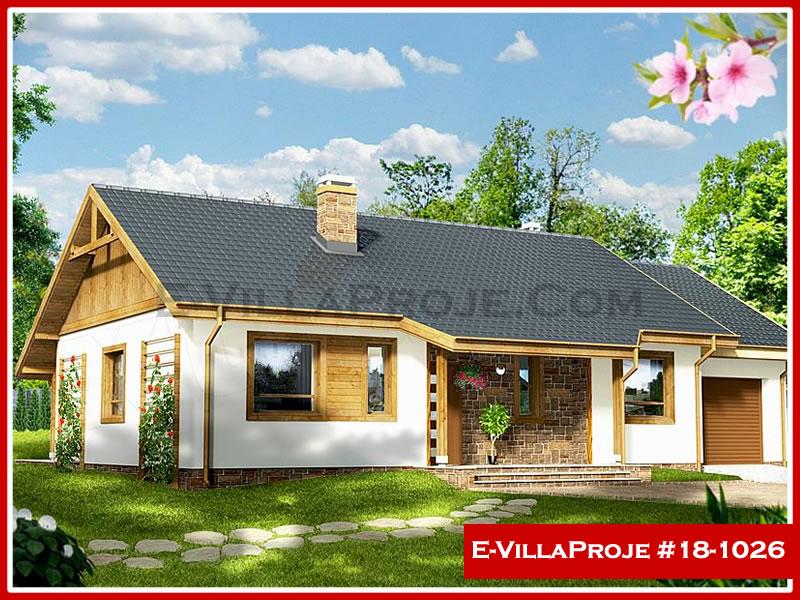 Ev Villa Proje #18 – 1026, 1 katlı, 3 yatak odalı, 1 garajlı, 130 m2