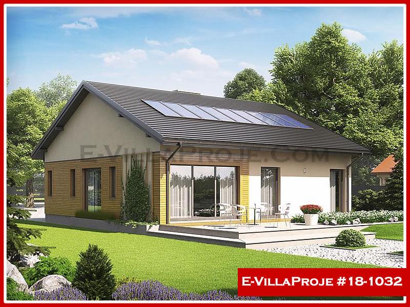 Ev Villa Proje #18 – 1032, 1 katlı, 2 yatak odalı, 1 garajlı, 120 m2