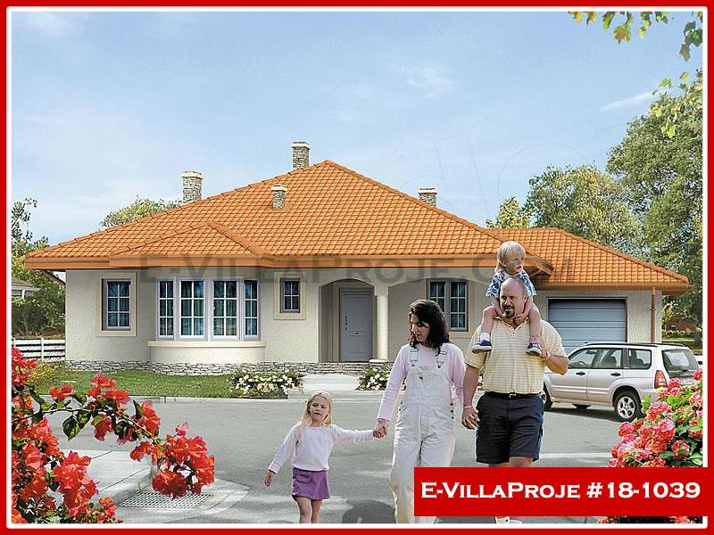 Ev Villa Proje #18 – 1039, 1 katlı, 3 yatak odalı, 1 garajlı, 150 m2