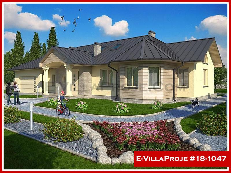 Ev Villa Proje #18 – 1047, 1 katlı, 3 yatak odalı, 1 garajlı, 161 m2