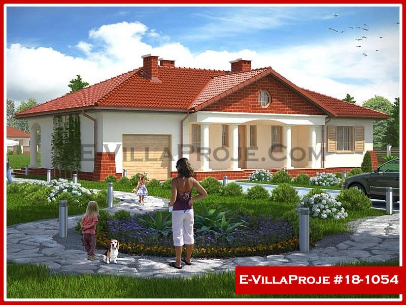 Ev Villa Proje #18 – 1054, 1 katlı, 3 yatak odalı, 1 garajlı, 139 m2
