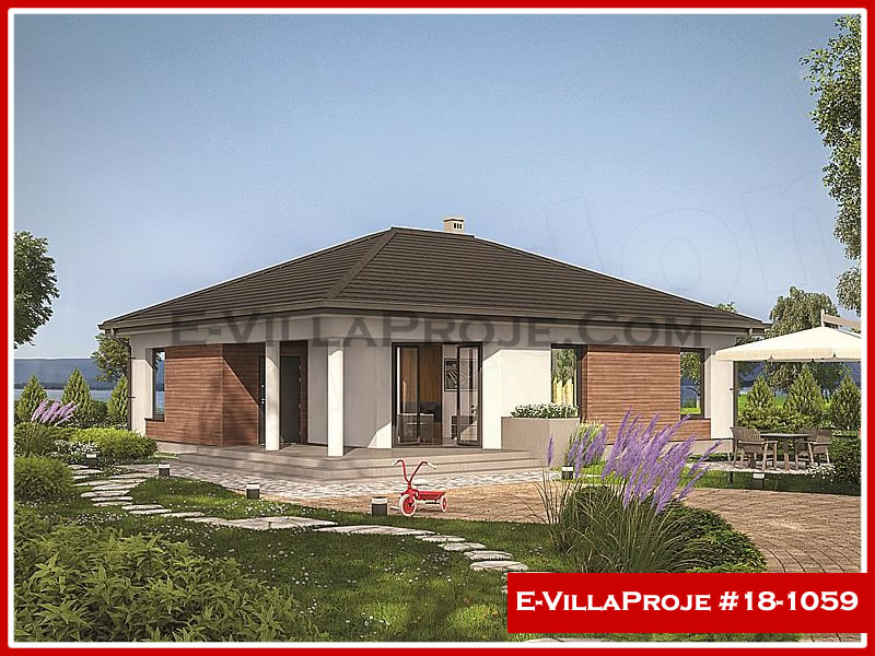 Ev Villa Proje #18 – 1059, 1 katlı, 2 yatak odalı, 0 garajlı, 112 m2