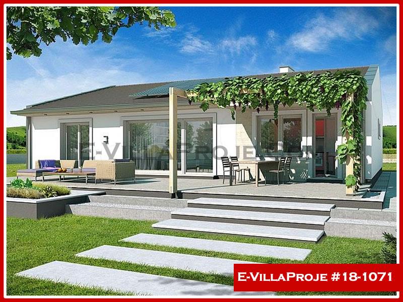 Ev Villa Proje #18 – 1071, 1 katlı, 2 yatak odalı, 1 garajlı, 129 m2