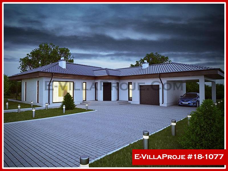 Ev Villa Proje #18 – 1077, 1 katlı, 3 yatak odalı, 2 garajlı, 174 m2