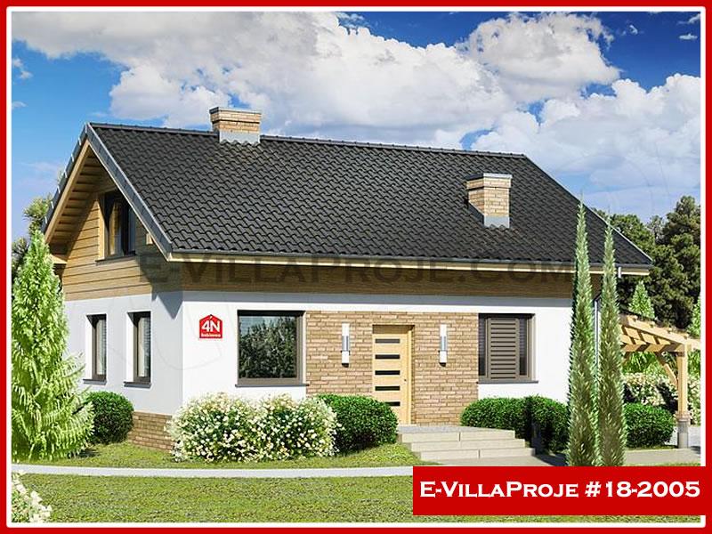 Ev Villa Proje #18 – 2005, 2 katlı, 3 yatak odalı, 1 garajlı, 163 m2