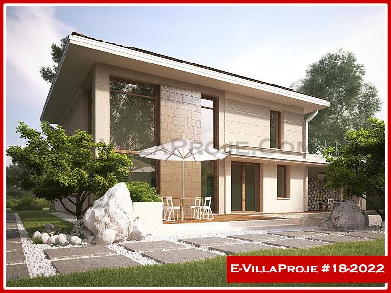 Ev Villa Proje #18 – 2022, 2 katlı, 4 yatak odalı, 1 garajlı, 185 m2