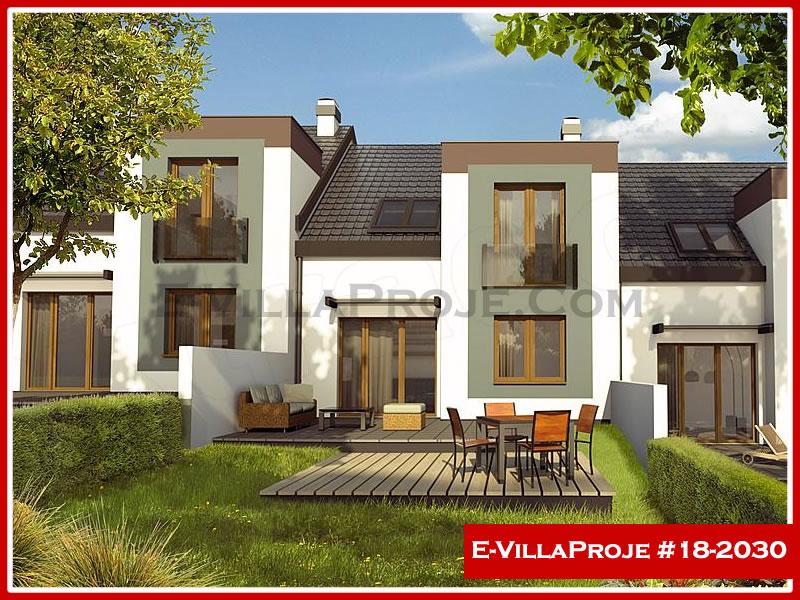 Ev Villa Proje #18 – 2030, 2 katlı, 4 yatak odalı, 1 garajlı, 138 m2