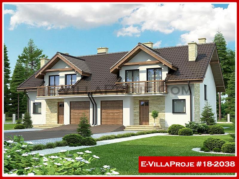 Ev Villa Proje #18 – 2038, 2 katlı, 4 yatak odalı, 1 garajlı, 181 m2