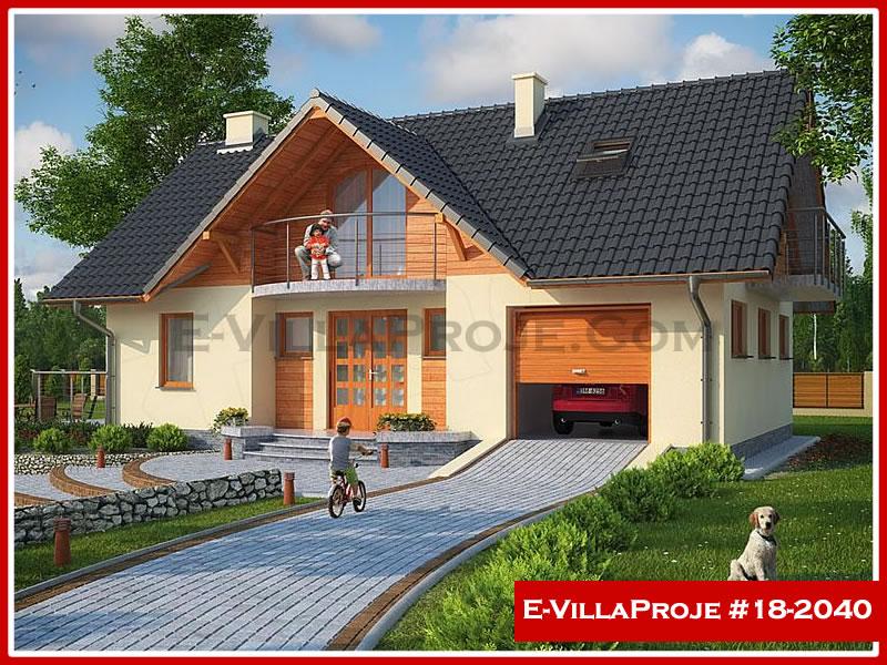 Ev Villa Proje #18 – 2040, 2 katlı, 3 yatak odalı, 1 garajlı, 174 m2