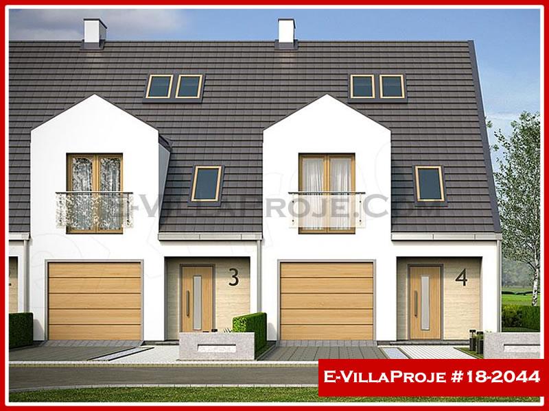 Ev Villa Proje #18 – 2044, 3 katlı, 4 yatak odalı, 1 garajlı, 180 m2