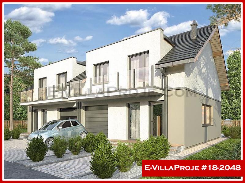 Ev Villa Proje #18 – 2048, 2 katlı, 3 yatak odalı, 1 garajlı, 130 m2