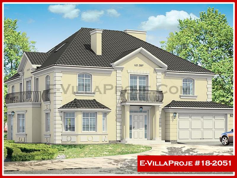 Ev Villa Proje #18 – 2051, 2 katlı, 5 yatak odalı, 2 garajlı, 421 m2
