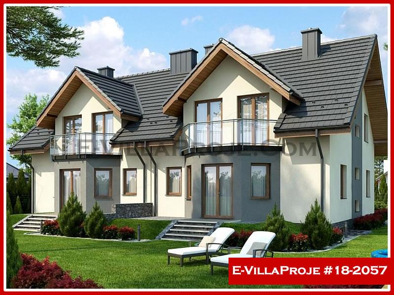 Ev Villa Proje #18 – 2057, 2 katlı, 5 yatak odalı, 1 garajlı, 172 m2