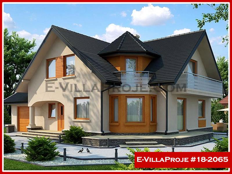 Ev Villa Proje #18 – 2065, 2 katlı, 4 yatak odalı, 1 garajlı, 218 m2