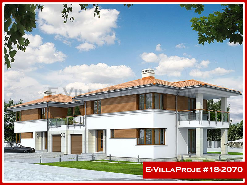 Ev Villa Proje #18 – 2070, 2 katlı, 4 yatak odalı, 1 garajlı, 181 m2