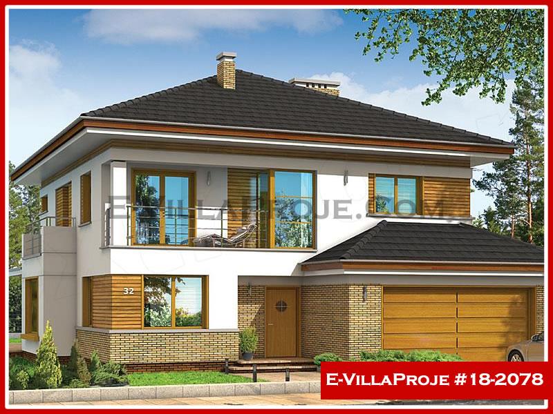 Ev Villa Proje #18 – 2078, 2 katlı, 4 yatak odalı, 2 garajlı, 252 m2