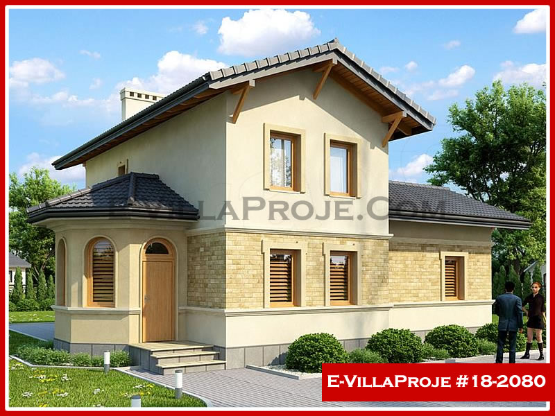 Ev Villa Proje #18 – 2080, 2 katlı, 3 yatak odalı, 0 garajlı, 140 m2