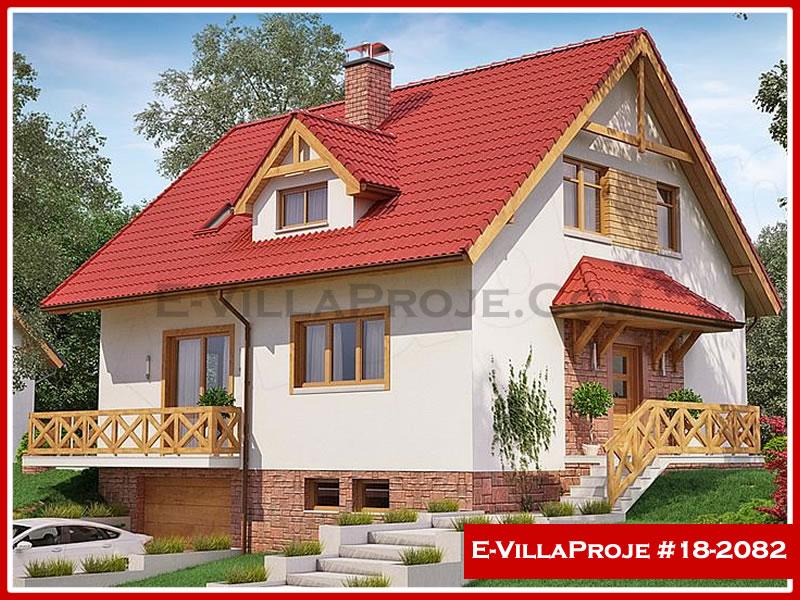Ev Villa Proje #18 – 2082, 2 katlı, 3 yatak odalı, 2 garajlı, 204 m2