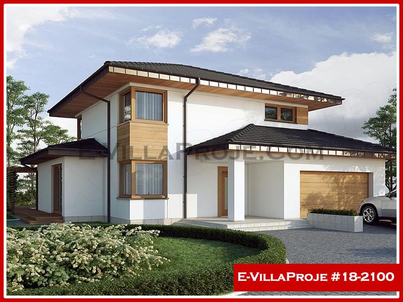 Ev Villa Proje #18 – 2100, 2 katlı, 3 yatak odalı, 2 garajlı, 198 m2