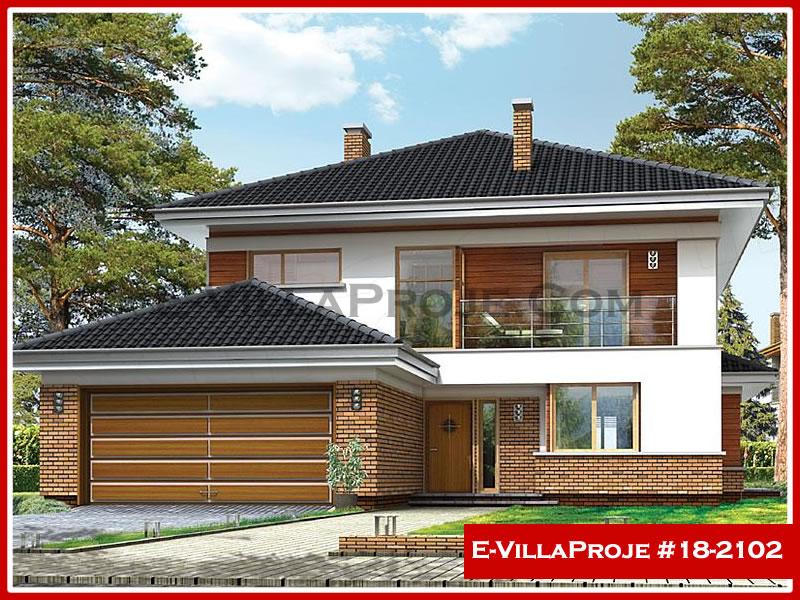 Ev Villa Proje #18 – 2102, 2 katlı, 5 yatak odalı, 2 garajlı, 280 m2