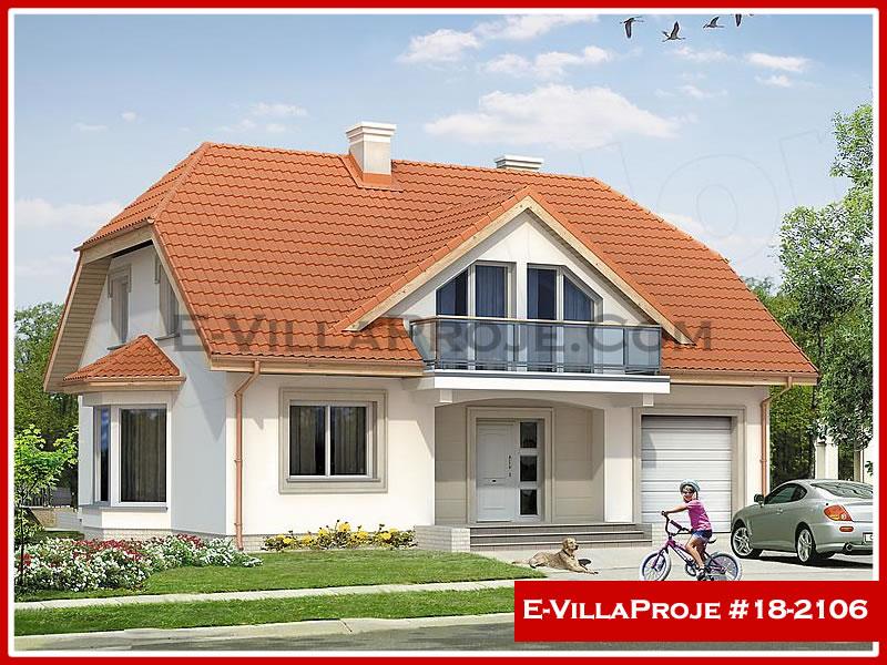 Ev Villa Proje #18 – 2106, 2 katlı, 3 yatak odalı, 1 garajlı, 221 m2