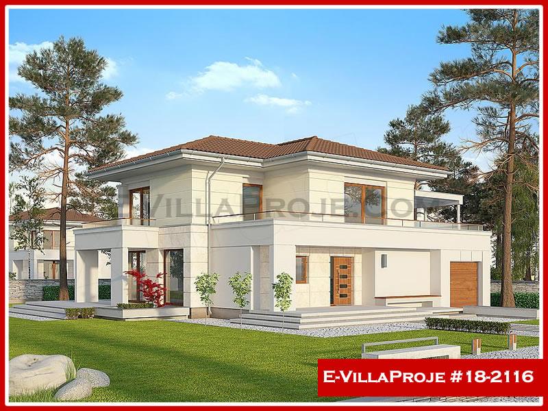 Ev Villa Proje #18 – 2116, 2 katlı, 3 yatak odalı, 1 garajlı, 203 m2