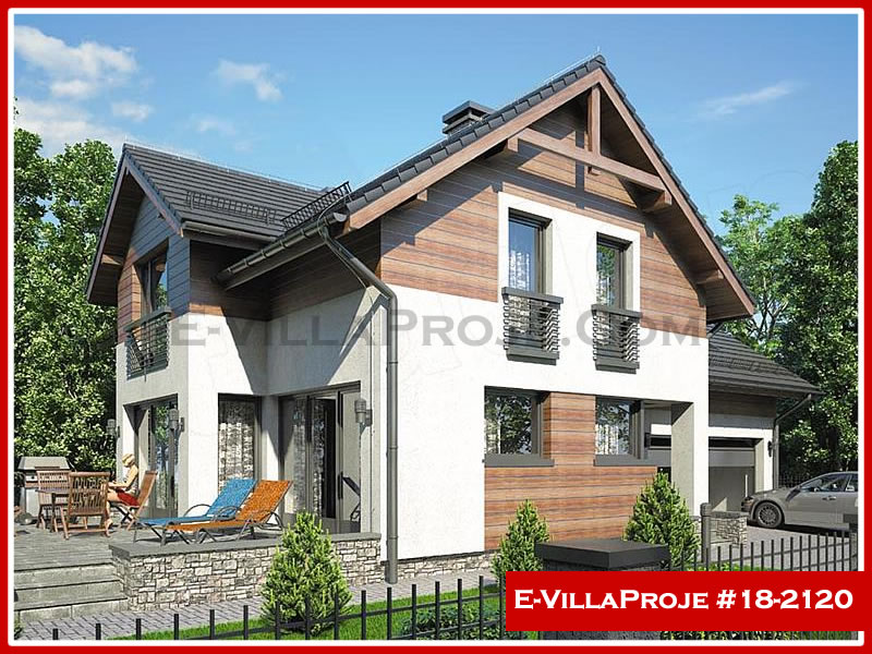Ev Villa Proje #18 – 2120, 2 katlı, 4 yatak odalı, 2 garajlı, 239 m2