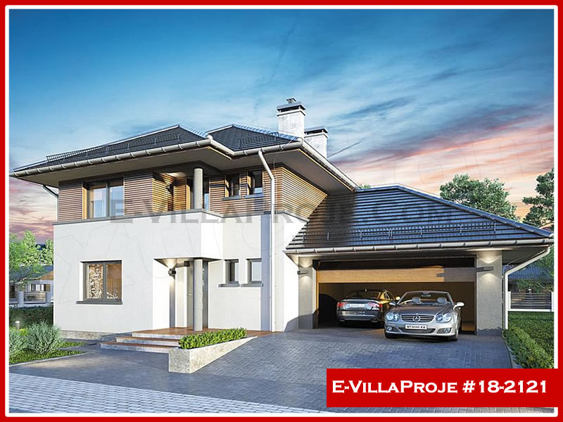 Ev Villa Proje #18 – 2121, 1 katlı, 3 yatak odalı, 2 garajlı, 204 m2