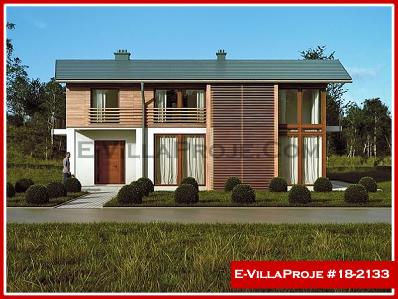 Ev Villa Proje #18 – 2133, 2 katlı, 3 yatak odalı, 0 garajlı, 214 m2