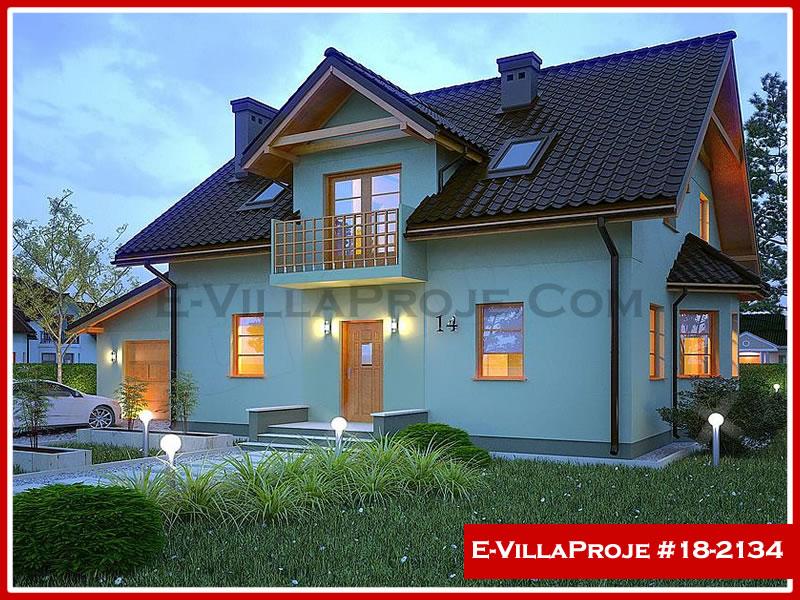 Ev Villa Proje #18 – 2134, 2 katlı, 4 yatak odalı, 1 garajlı, 206 m2