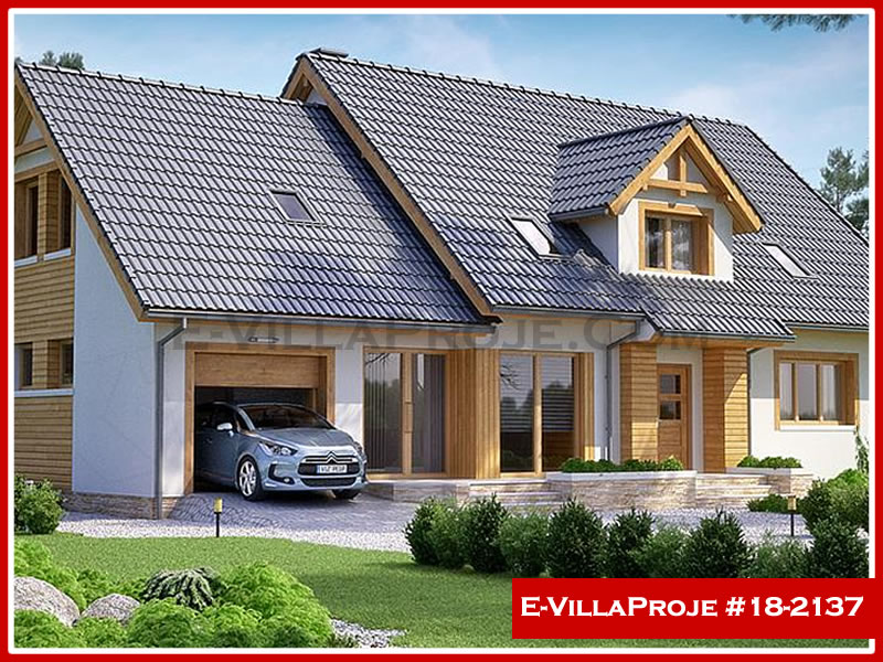 Ev Villa Proje #18 – 2137, 2 katlı, 5 yatak odalı, 1 garajlı, 319 m2