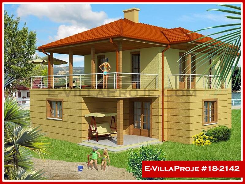 Ev Villa Proje #18 – 2142, 2 katlı, 3 yatak odalı, 2 garajlı, 156 m2