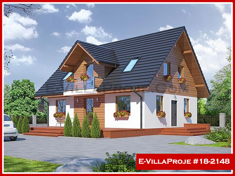 Ev Villa Proje #18 – 2148, 2 katlı, 3 yatak odalı, 0 garajlı, 175 m2