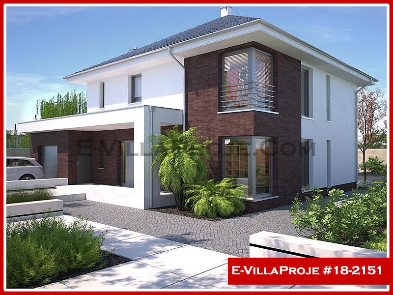 Ev Villa Proje #18 – 2151, 2 katlı, 4 yatak odalı, 1 garajlı, 241 m2