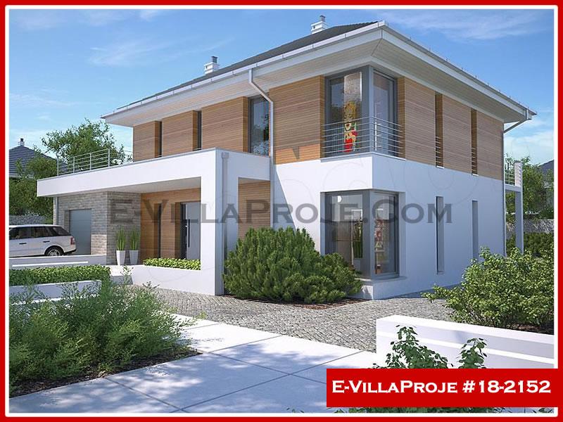 Ev Villa Proje #18 – 2152, 2 katlı, 4 yatak odalı, 1 garajlı, 214 m2