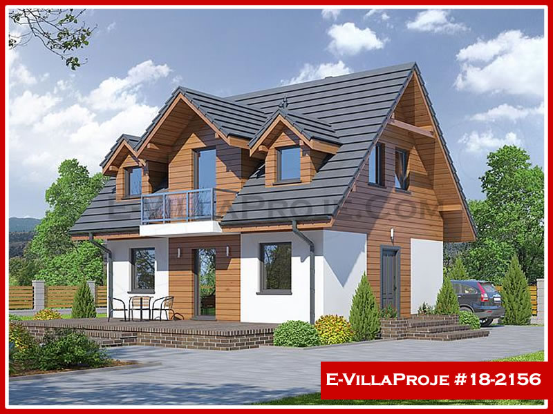 Ev Villa Proje #18 – 2156, 2 katlı, 3 yatak odalı, 0 garajlı, 122 m2