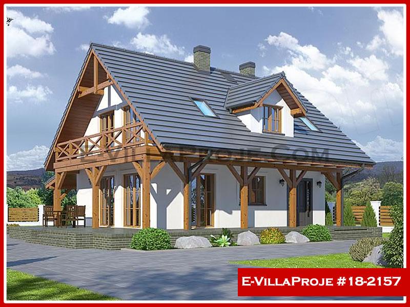 Ev Villa Proje #18 – 2157, 2 katlı, 3 yatak odalı, 1 garajlı, 140 m2