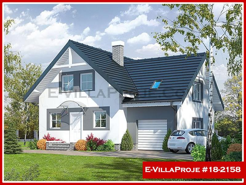 Ev Villa Proje #18 – 2158, 2 katlı, 3 yatak odalı, 1 garajlı, 184 m2
