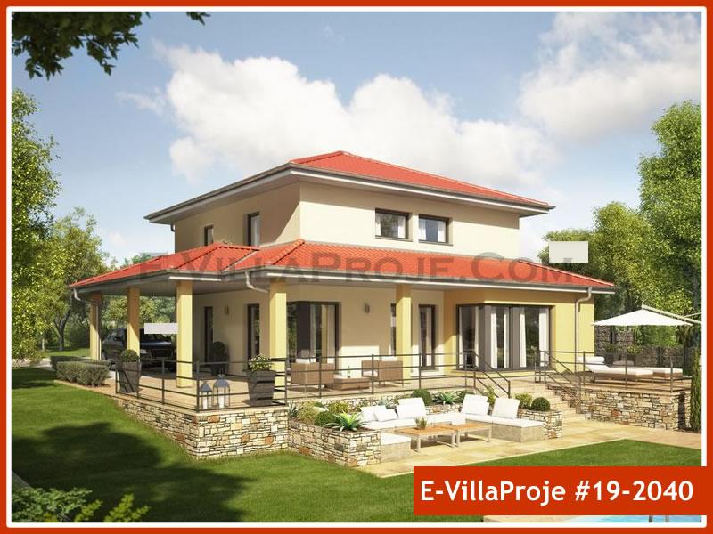 Ev Villa Proje #19 – 2040, 2 katlı, 4 yatak odalı, 1 garajlı, 191 m2