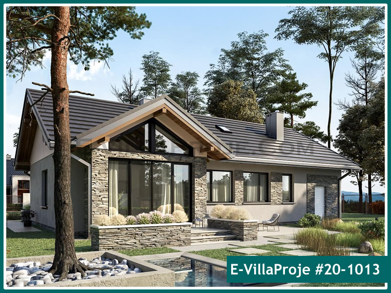 Ev Villa Proje #20 – 1013, 1 katlı, 3 yatak odalı, 1 garajlı, 123 m2