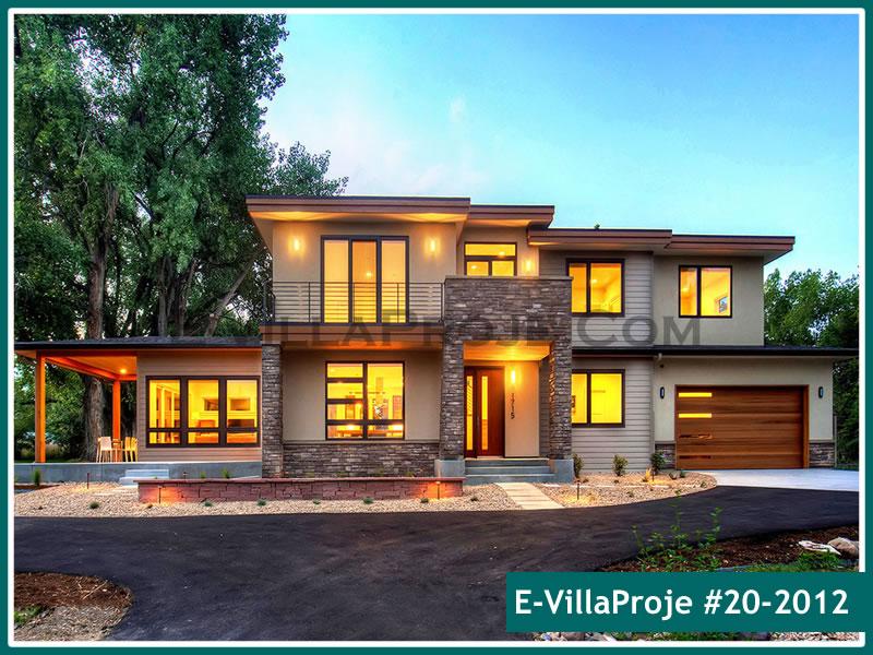 Ev Villa Proje #20 – 2012, 2 katlı, 4 yatak odalı, 2 garajlı, 301 m2