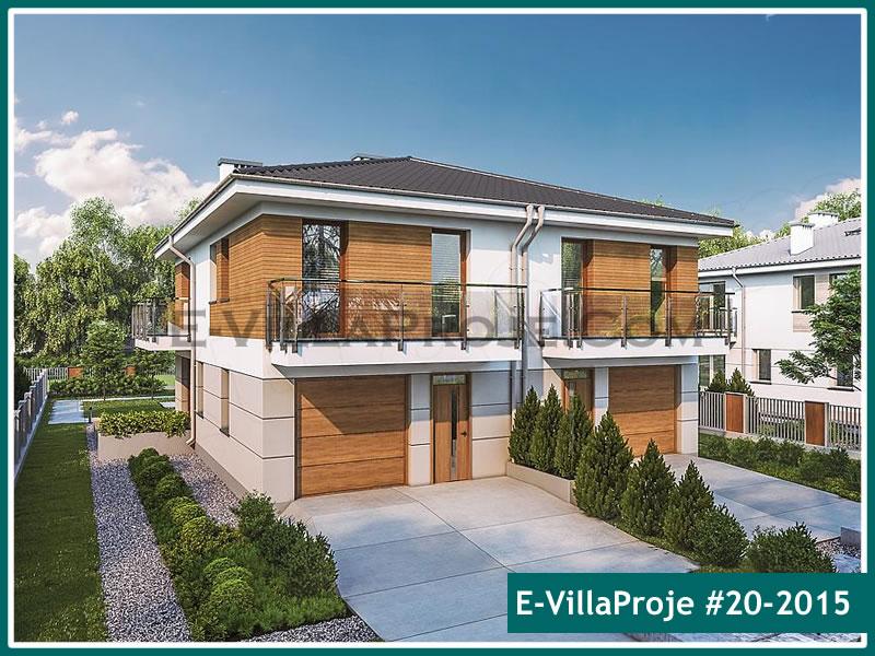 Ev Villa Proje #20 – 2015, 2 katlı, 4 yatak odalı, 1 garajlı, 123 m2