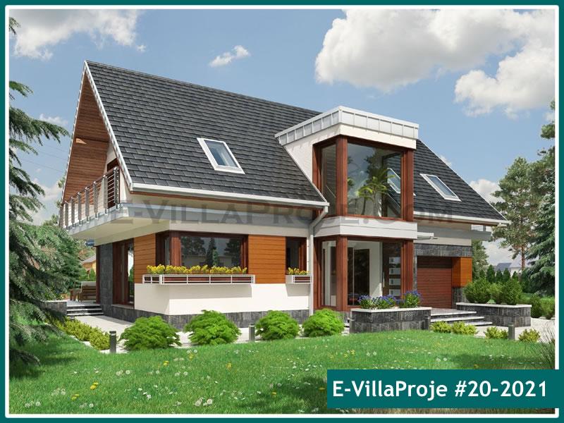 Ev Villa Proje #20 – 2021, 2 katlı, 4 yatak odalı, 1 garajlı, 230 m2